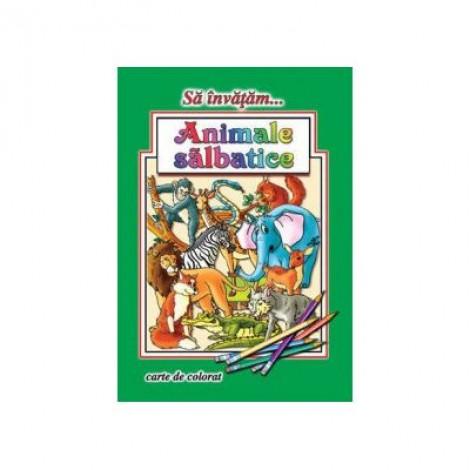 Animale salbatice (format A4- carte colorat) - Dana Popescu