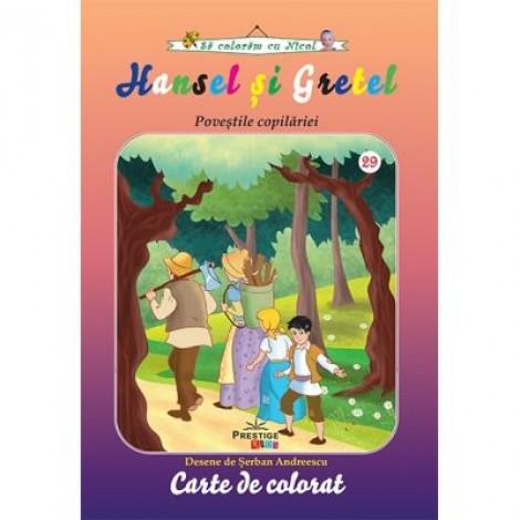 Hansel si Gretel - carte de colorat (colectia Sa coloram cu Nicol)