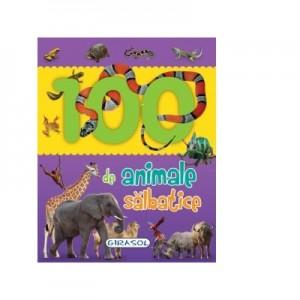 100 de animale salbatice. Primele mele carti cu poze