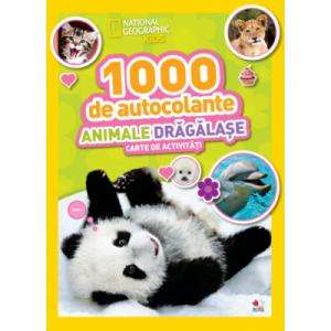 1000 de autocolante. Animale dragalase. Carte de activitati - National Geographic