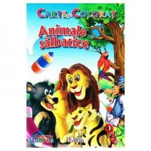 Animale salbatice. Carte de colorat