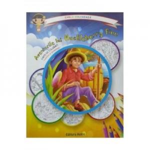 Aventurile lui Huckleberry Finn: carte de colorat + poveste. Carla coloreaza