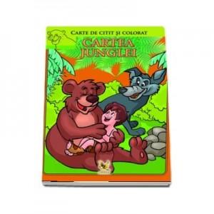 Cartea junglei. Carte de colorat si citit