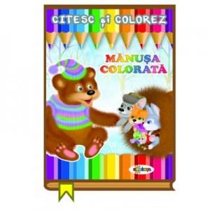 Citesc si colorez. Manusa colorata