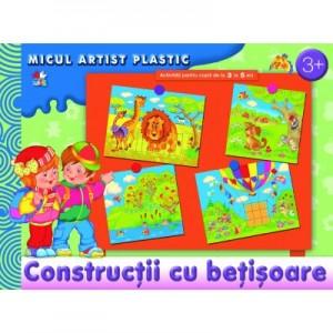 Constructii cu betisoare. Activitati pentru copii de la 3 la 5 ani. Micul artist plastic