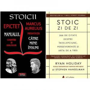 Pachet Stoicii si Stoic zi de zi - Cugetari, dialoguri si citate