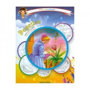 Degetica: carte de colorat + poveste. Carla coloreaza