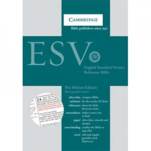 ESV Pitt Minion Reference Bible, Black Goatskin Leather, Red-letter Text