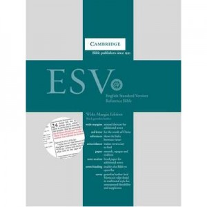 ESV Wide Margin Reference Bible, Black Edge-lined Goatskin Leather, Red-letter Text