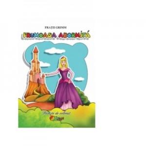 Frumoasa Adormita - Poveste de colorat A5 - Fratii Grimm