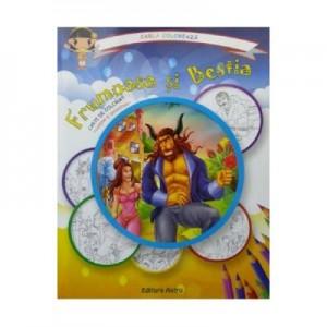 Frumoasa si Bestia: carte de colorat + poveste. Carla coloreaza