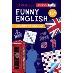 FUNNY ENGLISH. Jocuri si enigme (13+) - Sandra Lebrun