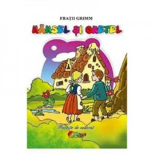 Hansel si Gretel. Carte de colorat 3