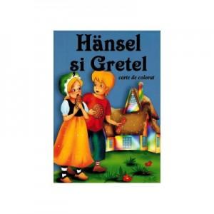 Hansel si Gretel - format A5 (carte de colorat)