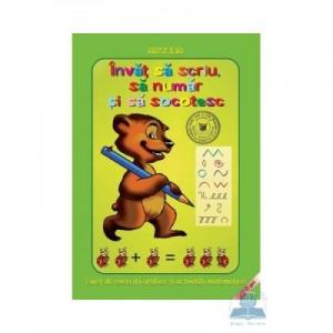 Invat sa scriu, sa numar si sa socotesc - Caiet de exercitii grafice si activitati matematice