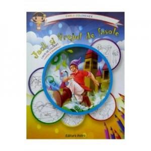 Jack si vrejul de fasole: carte de colorat + poveste. Carla coloreaza