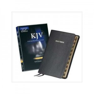 KJV Concord Reference Bible, Black Calfsplit Leather, Red Letter Text