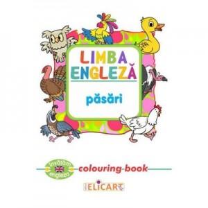 Limba engleza. Pasari. Colouring Book