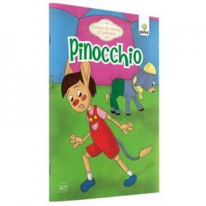 Povesti de colorat cu sabloane - Pinocchio